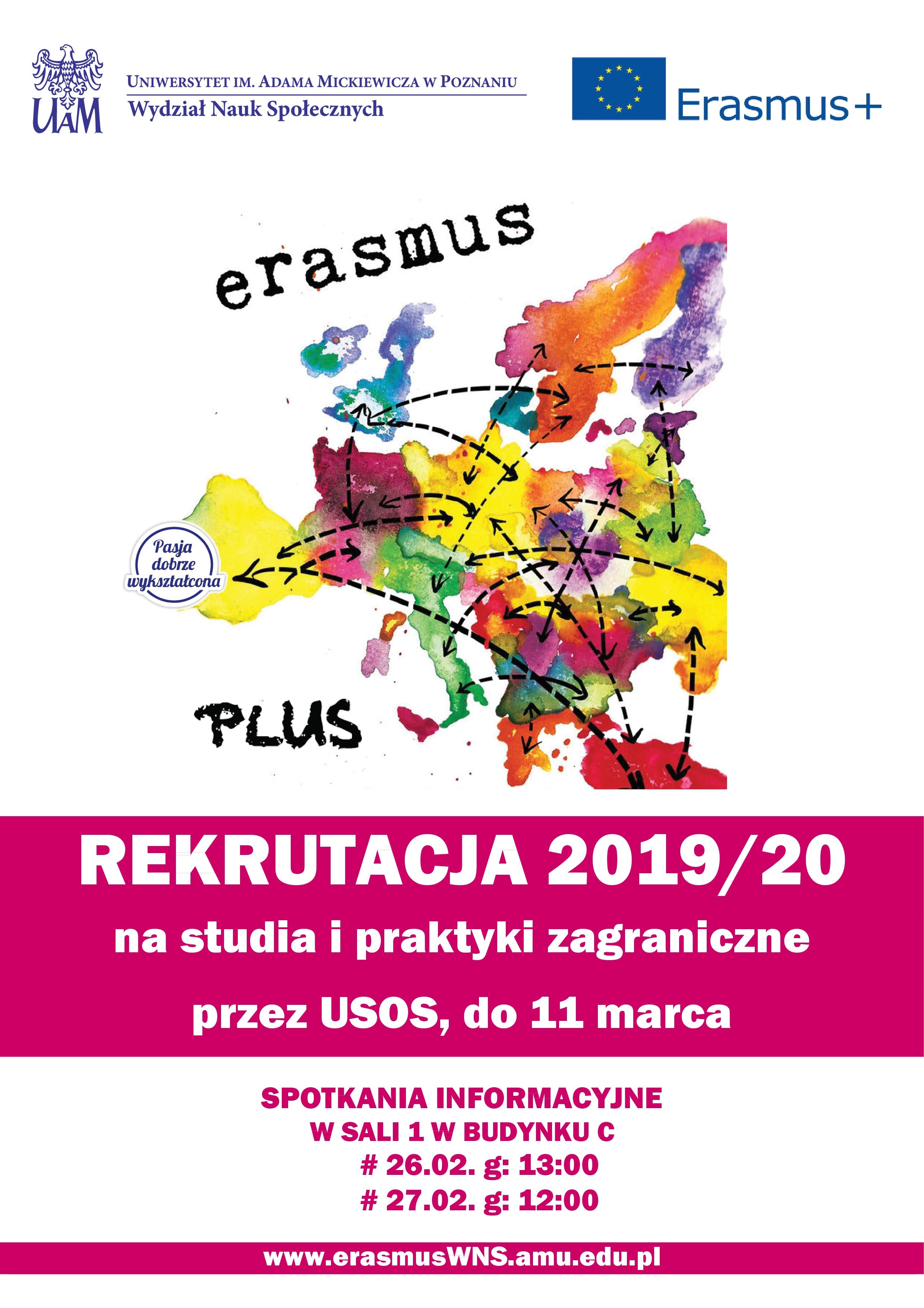 Rekrutacja na praktyki Erasmus 2019/2020