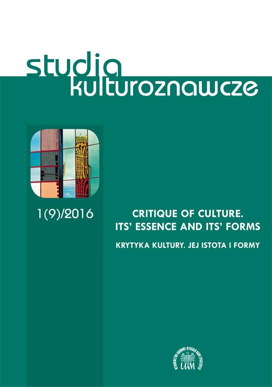 Studia Kulturoznawcze 1(9)/2016