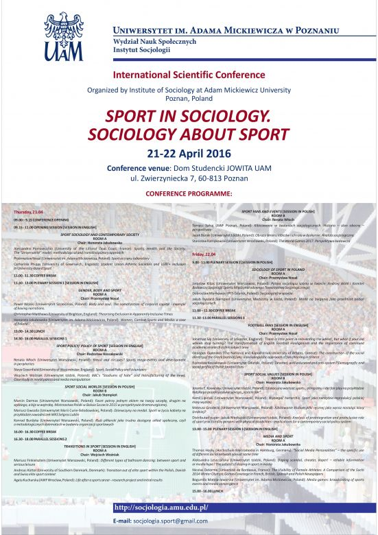 sport sociology Sport and sociology by dominic malcolm, 9780415571234, available at book depository with free delivery worldwide.